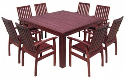 Outdoor dining new for brisbane jarrah timber for Outdoor furniture launceston