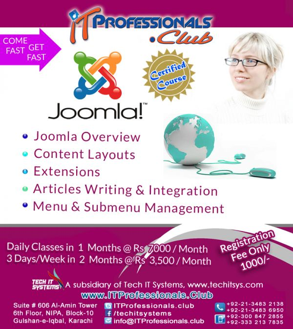 IT Professionals.clubs Joomla Cms Certified Course