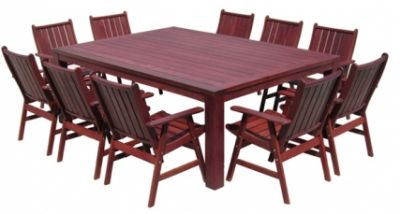 Outdoor dining new for brisbane jarrah timber