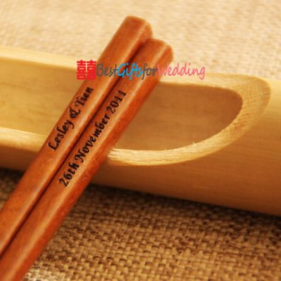 Engraved Personalized Fine Wood Chopsticks