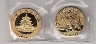 2010   Panda  1oz  Gold  Coin  99.9%  Proof