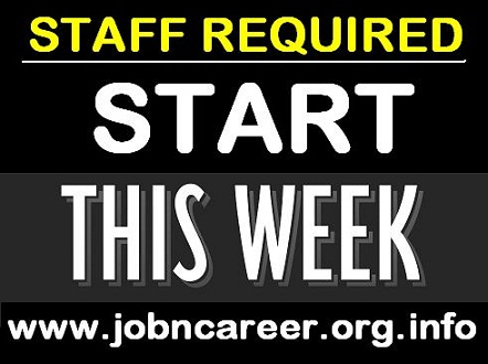 Weekly Staff Required For Cash Vacancies.