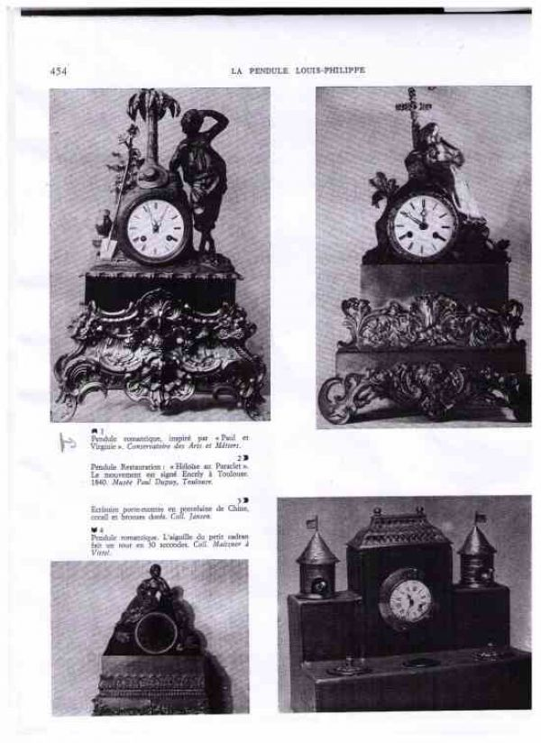 A French Romantic clock , periode +/ 1850