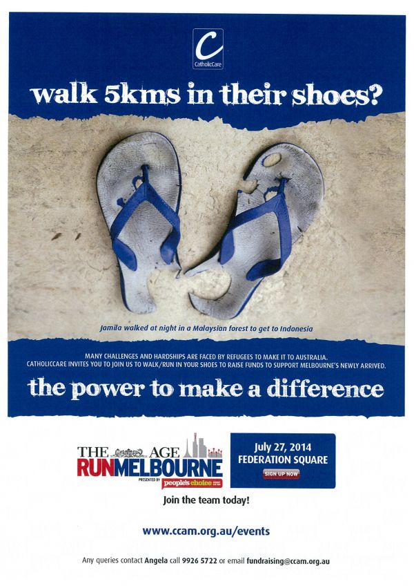 Run Melbourne : Walk 5kms in their shoes