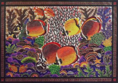Batik painting and Leather carving