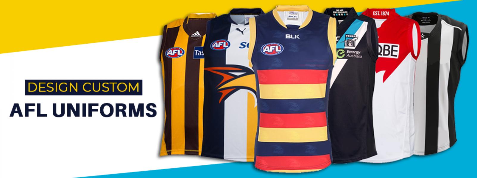Custom Made AFL Uniforms Online Australia - ColourUp