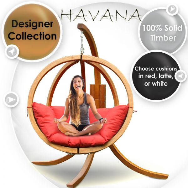 Outdoor Wooden Hanging Chair – Havana | Time To Click