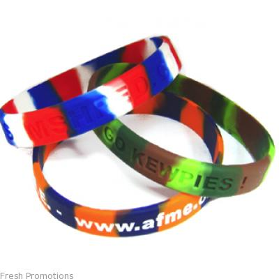 An Awesome Range Of Multi Colour Embossed Wristbands At Discounted Price In Australia