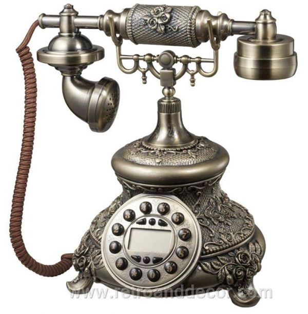 Beautiful Hand made Vintage Telephones & Decorative Clocks