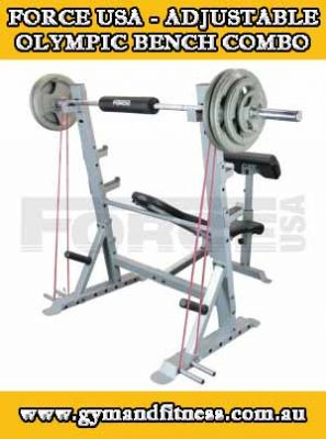 For Sale Force USA - Adjustable Olympic Bench System Combo
