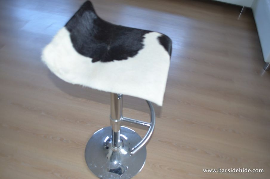 Cowhide rugs and stools