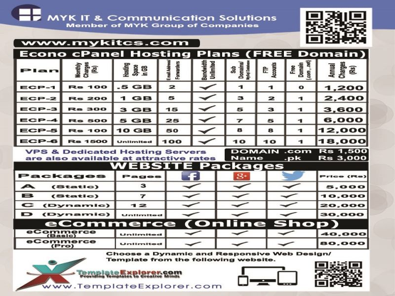 MYKITCS Price List For Website Designing Web Development And All IT Services