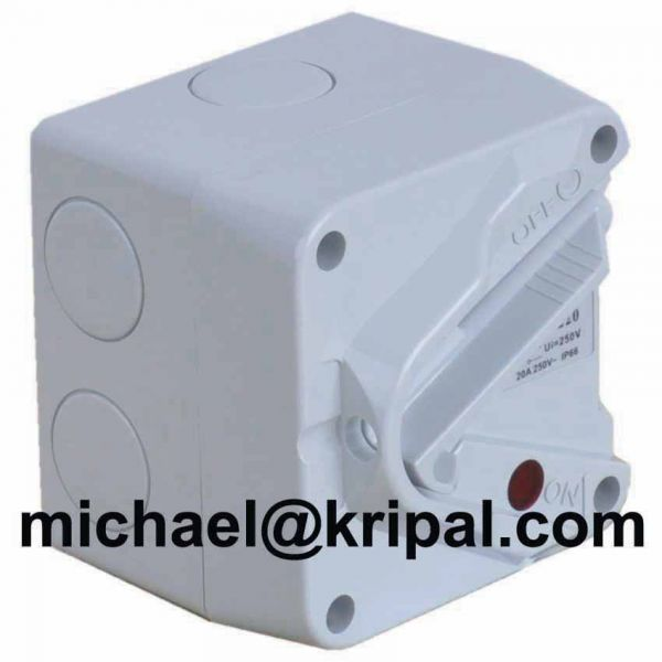 SAA certified IP66 weater protected isolating switch mini type