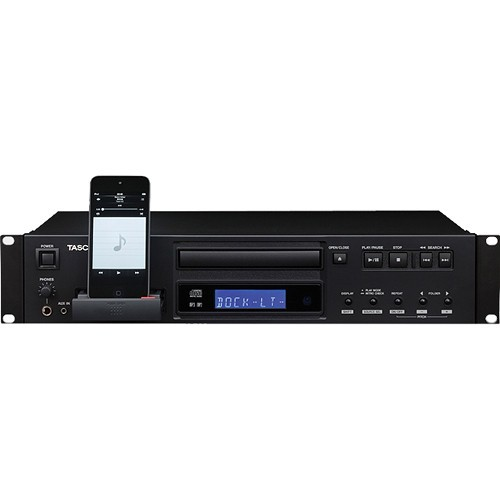 Tascam PROFSNL SINGLE CD PLAYER w/iPOD DOCK ( CD-200IL )